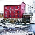 Bridgeton Mill In Winter by Virginia Folkman