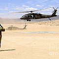 Brigade Aviation Officer Salutes by Stocktrek Images