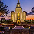 Brigham City Temple Moon N Stars by La Rae  Roberts
