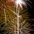 Bright Bursts Of Fireworks by Garry Gay
