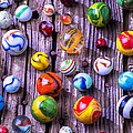 Bright Colorful Marbles by Garry Gay