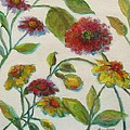 Bright Contemporary Floral  by Mary Wolf