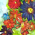 Bright Flower Bunch by Teresa Hay