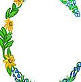 Bright Fun Colorful Hand Drawn Monogram C by Lea S