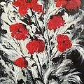 Bright Red Poppies by Renate Voigt
