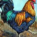 Bright Strutting Rooster by Dottie Dracos