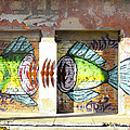 Brightly Colored Fish Mural by Anne Mott