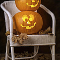Brightly Lit Jack O Lanterns by Amanda Elwell