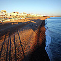 Brighton Beach And Pier Shadow by Paul Chessell