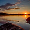 Brilliant Sunrise. Baxter Lake Nh by Jeff Sinon