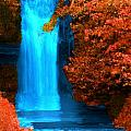 Brilliant Waterfall In Autumn by Bruce Nutting