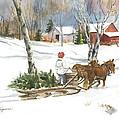 Bringing Home The Tree by Jill Wageman