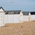 British Beach Huts In Sussex by David Fowler
