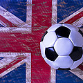 British Flag And Soccer Ball by Garry Gay