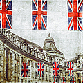 British Flags Flying Above Regent St by Doug Armand