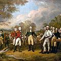 British General John Burgoyne Surrenders At Saratoga by Celestial Images
