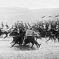 British Lancers Charging by Underwood Archives