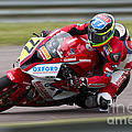 British Superbike Rider Barry Burrell   by Andrew Harker