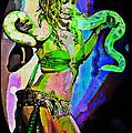 Britney Neon Dancer by Absinthe Art By Michelle LeAnn Scott