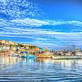 Brixham Devon England Uk English Harbour Summer Day With Blue Sky Traditional Coast Scene by Michael Charles