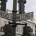 Broad Street And Meeting Street Charleston South Carolina by Jason O Watson