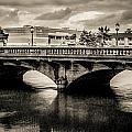 Broadway Bridge With Clouds by Paul Haist