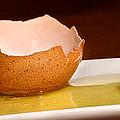 Broken Brown Egg  by Iris Richardson