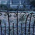 Broken Iron Fence By Old House by Jill Battaglia