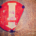 Broken Round Sign With Arrow by Silvia Ganora