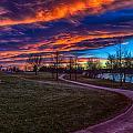 Bronco Sunset by Dick Knapp