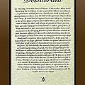 Bronze Frame Original Desiderata Poster by Desiderata Gallery