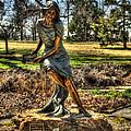 Bronze Girl At Woodward Park by John Straton