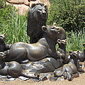 Bronze Pride Of Lions by Virginia Kay White