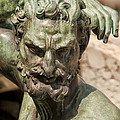 Bronze Satyr In The Fountain Of Neptune Of Florence by Melany Sarafis