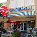 Brooklyn Bagel Restaurant In Delray Beach. Florida. by Robert Birkenes