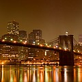 Brooklyn Bridge And Downtown Manhattan by Val Black Russian Tourchin