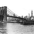 Brooklyn Bridge And Ny Skyline by Underwood & Underwood