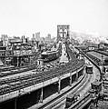 Brooklyn Bridge And Terminal - 1903 by Daniel Hagerman
