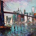 Brooklyn Bridge And Twin Towers by Ylli Haruni