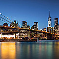 Brooklyn Bridge At Dusk by Mihai Andritoiu