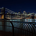 Brooklyn Bridge At Night by David Smith