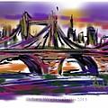 Brooklyn Bridge At Sunset by Richard Wright Galleries
