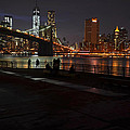 Brooklyn Bridge From Empire Fulton Ferry Park by Toby McGuire