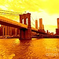 Brooklyn Bridge In Yellow by Ed Weidman