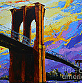 Brooklyn Bridge New York Landmark by Patricia Awapara
