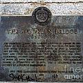 Brooklyn Bridge Plaque by Ed Weidman