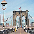 Brooklyn Bridge - New York by S Mykel Photography