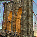 Brooklyn Bridge Tower by Jerry Fornarotto