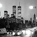 Brooklyn Bridge Traffic II Dusk 1980s by Gary Eason