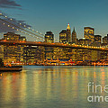 Brooklyn Bridge Twilight by Clarence Holmes